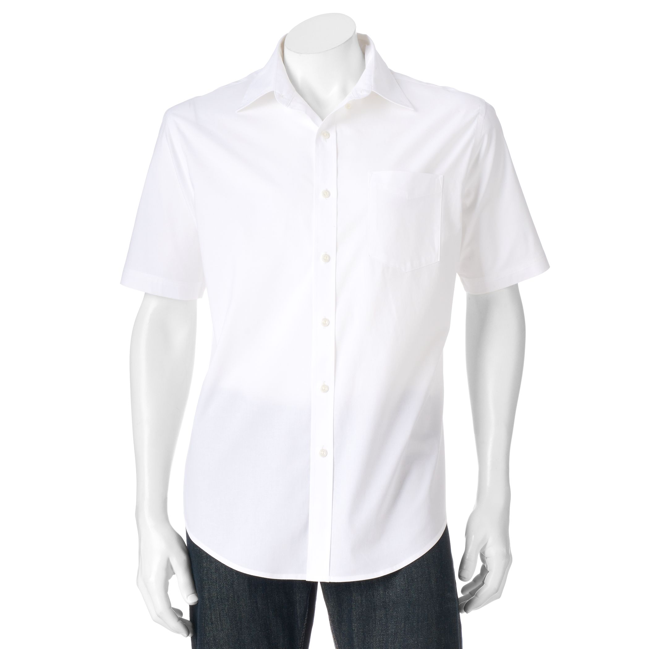 Mens White Button Down Shirt