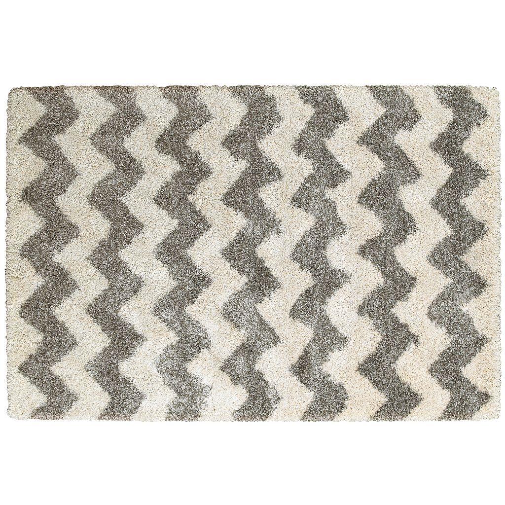 StyleHaven Hillcrest Chevron Stripes Shag Rug