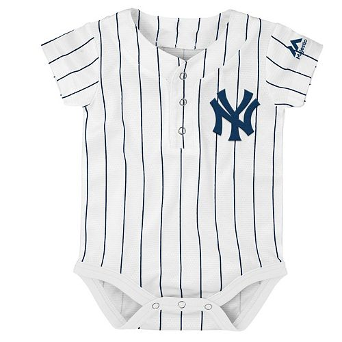 8205cee7b Baby Majestic New York Yankees Cool Base Replica Jersey Bodysuit