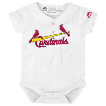 Baby Majestic St. Louis Cardinals Cool Base Replica Jersey Bodysuit