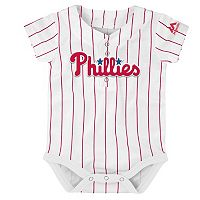 Baby Majestic Philadelphia Phillies Cool Base Replica Jersey Bodysuit