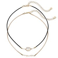 LC Lauren Conrad Beaded Stone Choker Necklace Set