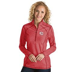 Women's Antigua Cincinnati Reds Tempo Pullover