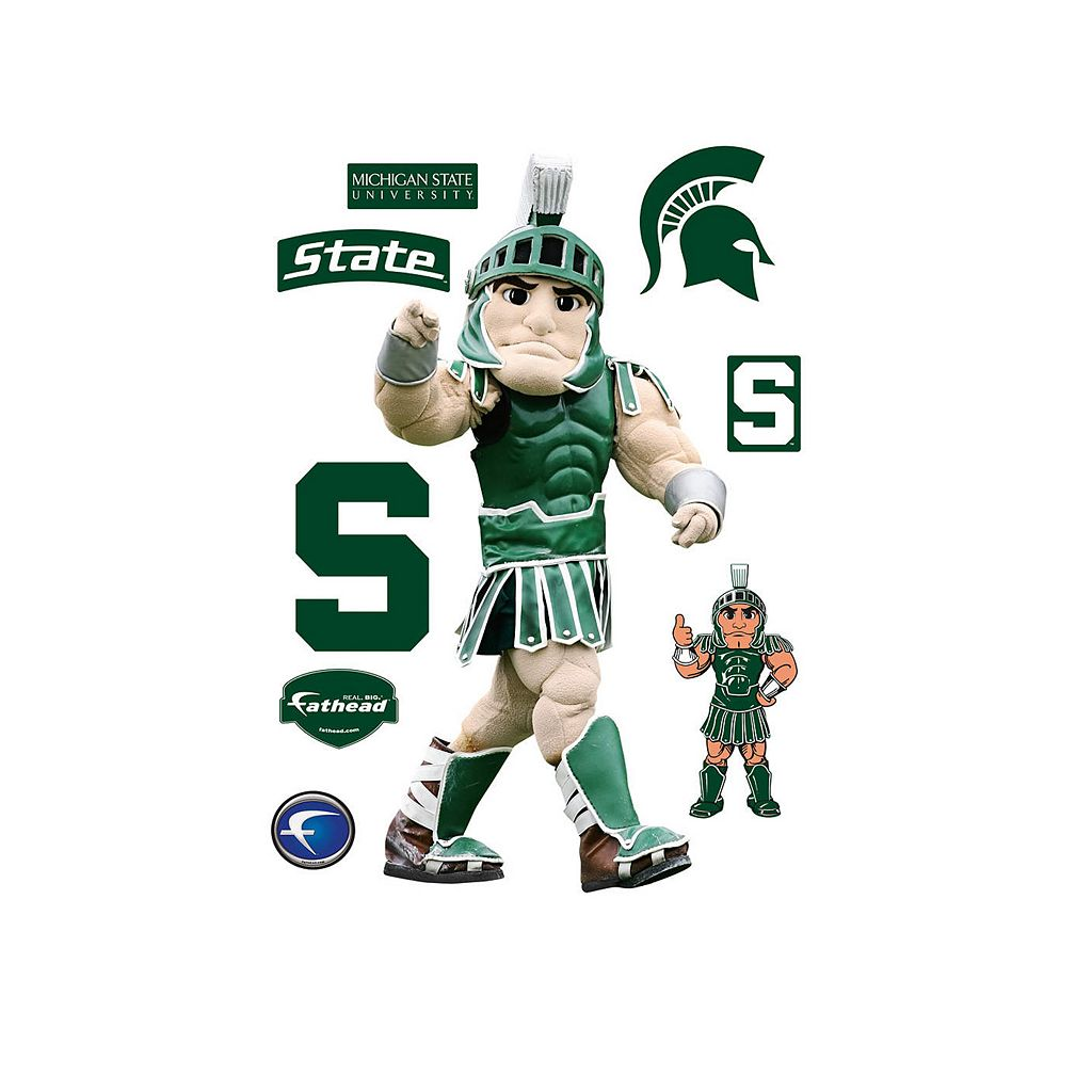 Michigan State Spartans Mascot Wall Decal by Fathead