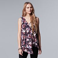 Women's Simply Vera Vera Wang Print Ruffle Top