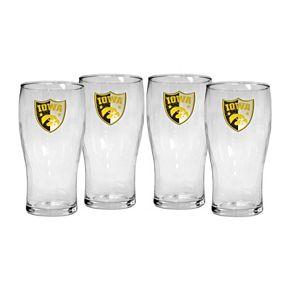 Iowa Hawkeyes 4-Piece Pilsner Glass Set