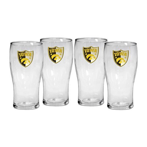 Iowa Hawkeyes 4-Piece Pilsner Glass Set