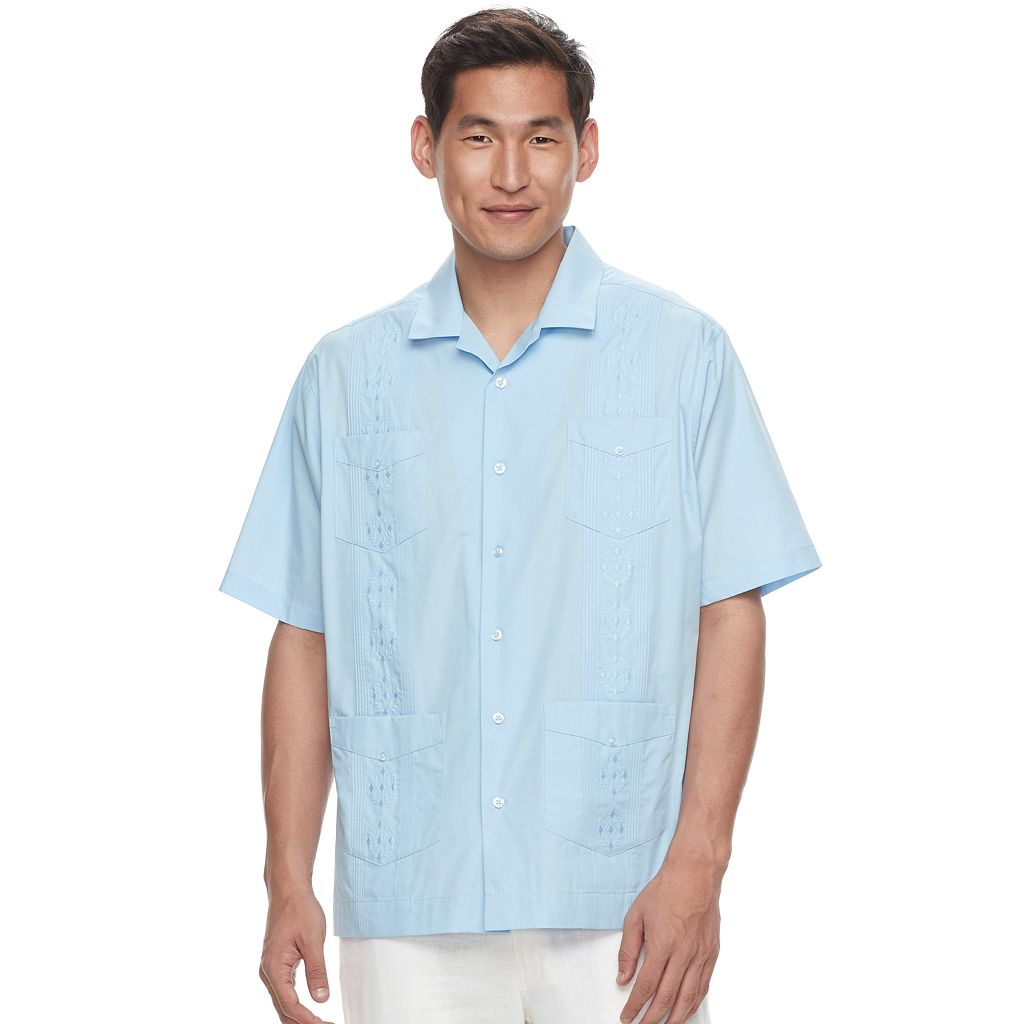 Men's Havanera Embroidered Four-Pocket Button-Down Shirt