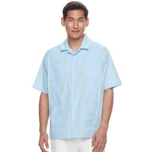 Men's Havanera Embroidered Four-Pocket Button-Down Shirt