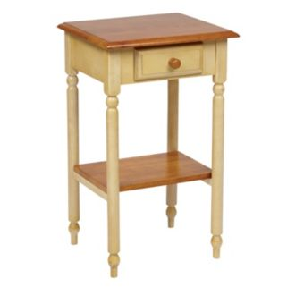 Office Star Country Cottage Telephone Accent Table