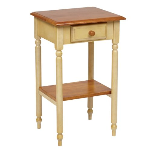Home Star Country Cottage Telephone Accent Table