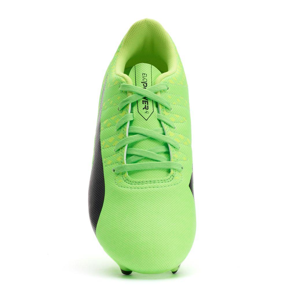 PUMA evoPOWER Vigor 4 Firm-Ground Jr. Grade School Boy's Soccer Cleats