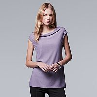Women's Simply Vera Vera Wang Simply Separates Drapeneck Top