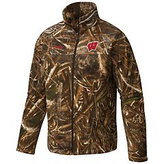 Men's Columbia Wisconsin Badgers Flanker Camo Jacket