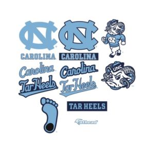 North Carolina Tar Heels Logo Wall Decals by Fathead