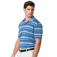 Men's Chaps Classic-Fit Texture-Striped Jacquard Performance Golf Polo