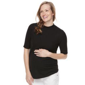 Maternity a:glow Black Mockneck Tee