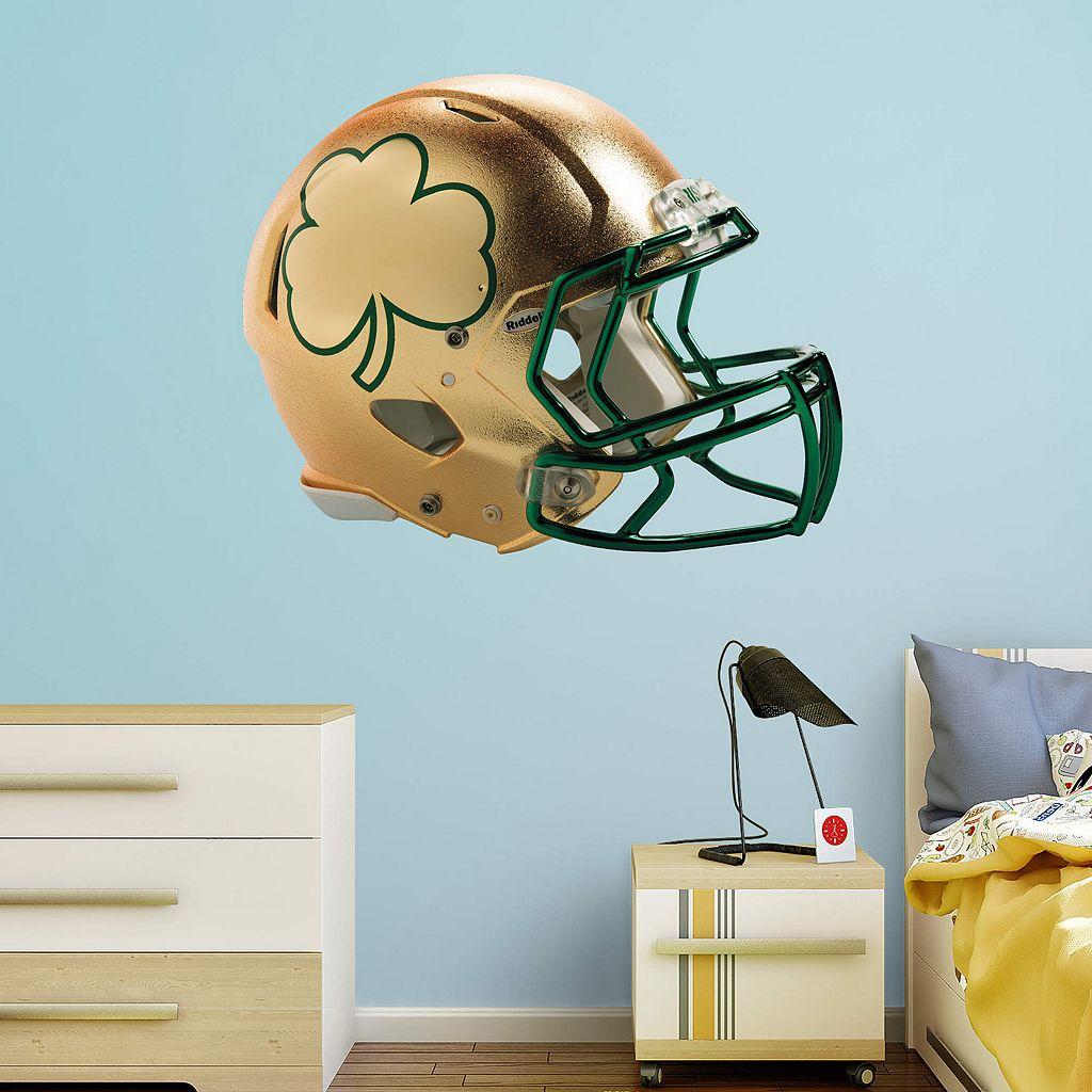 Notre Dame Fighting Irish Shamrock Helmet Wall Decal by Fathead