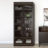 Aberdeen Two-Tone 2-Door Hutch Cabinet