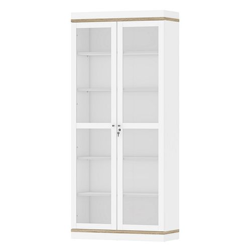 Aberdeen Two-Tone 2-Door Hutch Cabinet