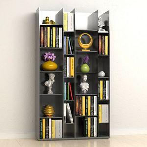 Capri 20-Shelf Modern Bookshelf