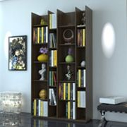 Capri 20-Shelf Modern Bookshelf