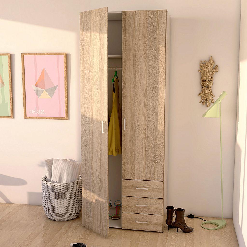 Space 2-Door Wardrobe Closet