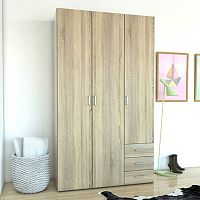 Space 3-Door Wardrobe Closet