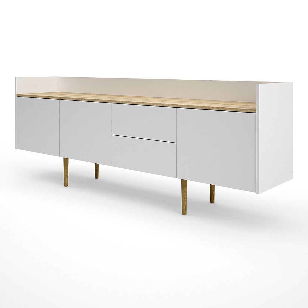 Unit Two-Tone Sideboard Storage Cabinet