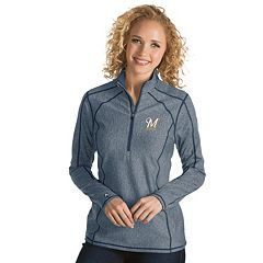 Women's Antigua Milwaukee Brewers Tempo Pullover