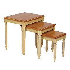 Office Star Products Country Cottage Nesting Table Set