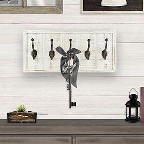 Belle Maison 5-Hook Distressed Wall Decor
