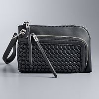 Simply Vera Vera Wang Pierce Basketweave Wristlet
