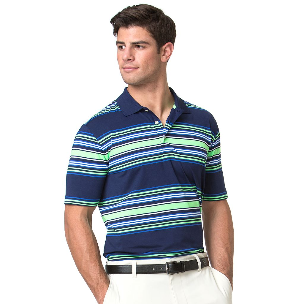 Men's Chaps Classic-Fit Striped Performance Golf Polo