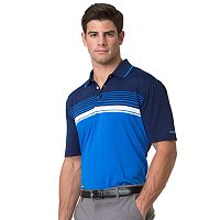 Men's Chaps Classic-Fit Chest-Striped Performance Golf Polo