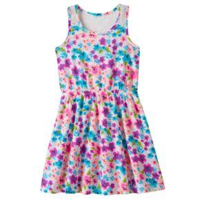 Girls 4-10 Jumping Beans® Flower Patterned Slubbed Lace Racerback Dress