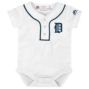 Baby Majestic Detroit Tigers Cool Base Replica Jersey Bodysuit