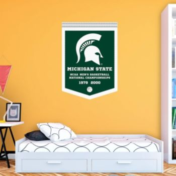 Michigan State Spartans National Champs Banner Wall Decal by Fathead