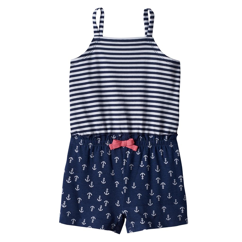 Toddler Girl Jumping Beans® Print Tank Romper