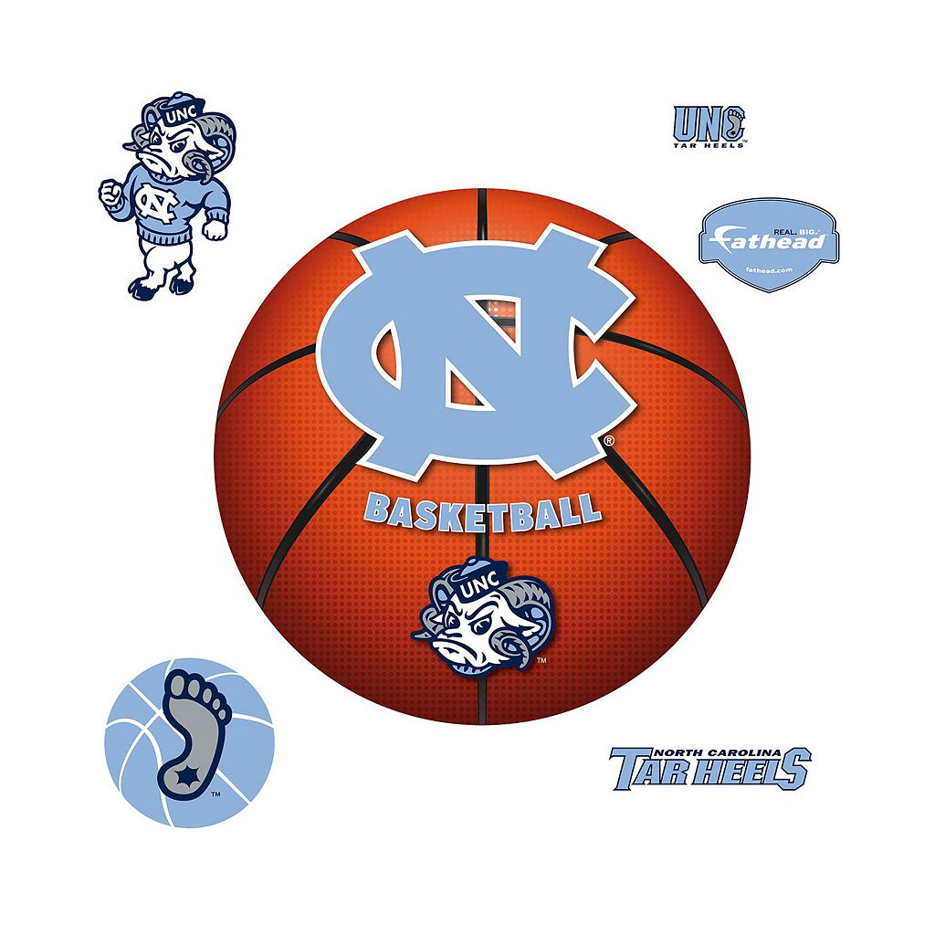 North Carolina Tar Heels Basketball Logo Wall Decal by Fathead