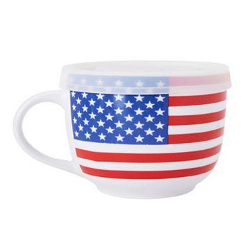 Pfaltzgraff American Flag Soup Mug