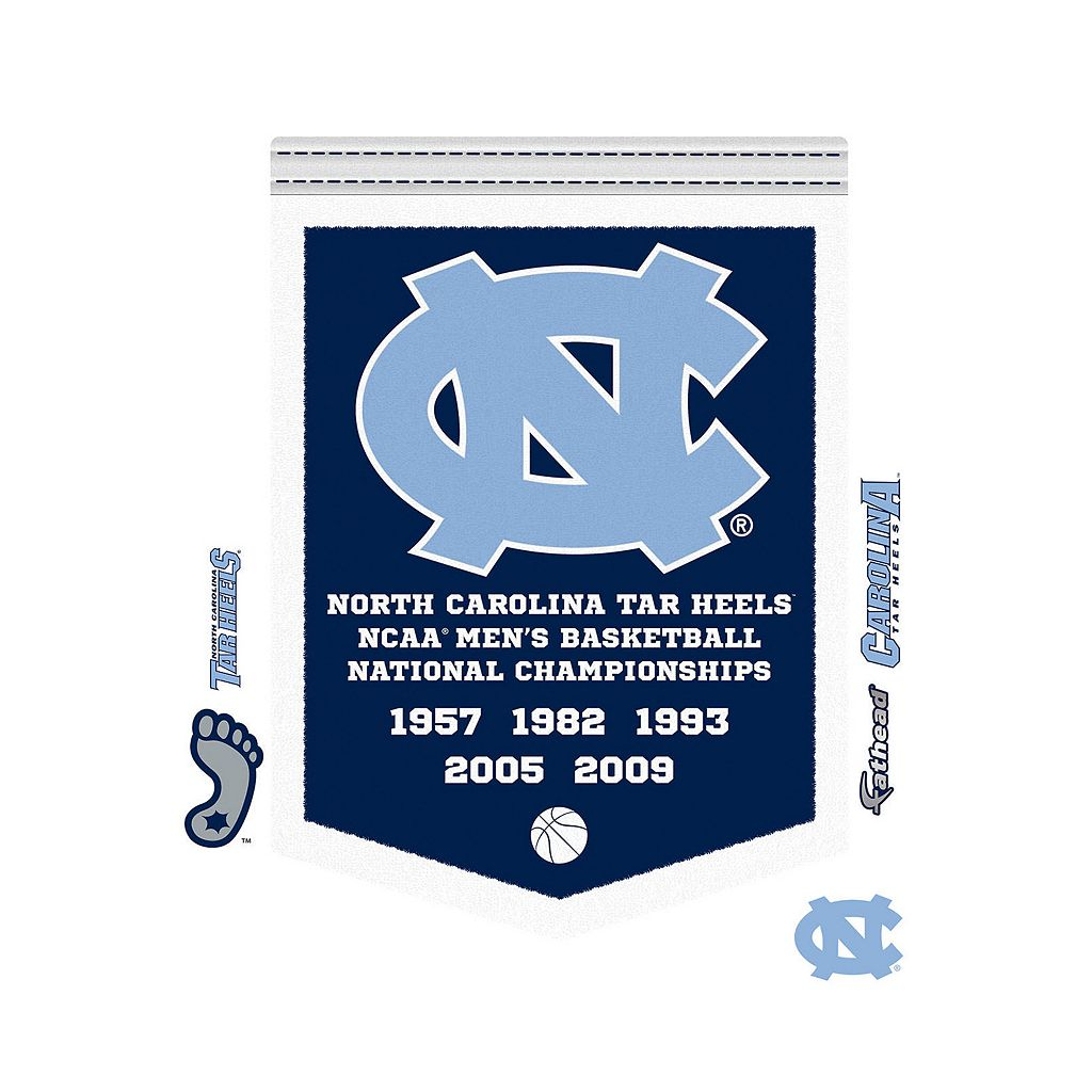 North Carolina Tar Heels National Champs Banner Wall Decal by Fathead
