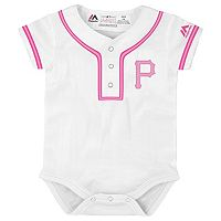 Baby Majestic Pittsburgh Pirates Cool Base Replica Jersey Bodysuit