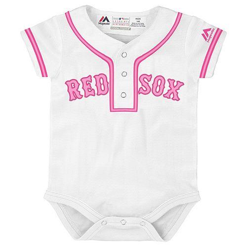Baby Majestic Boston Red Sox Cool Base Replica Jersey Bodysuit