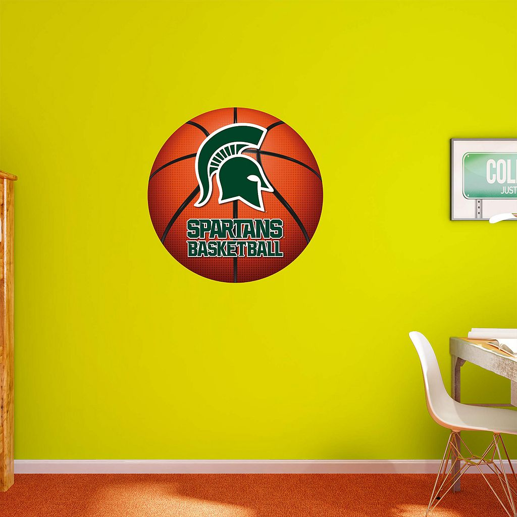 Michigan State Spartans Basketball Logo Wall Decal by Fathead