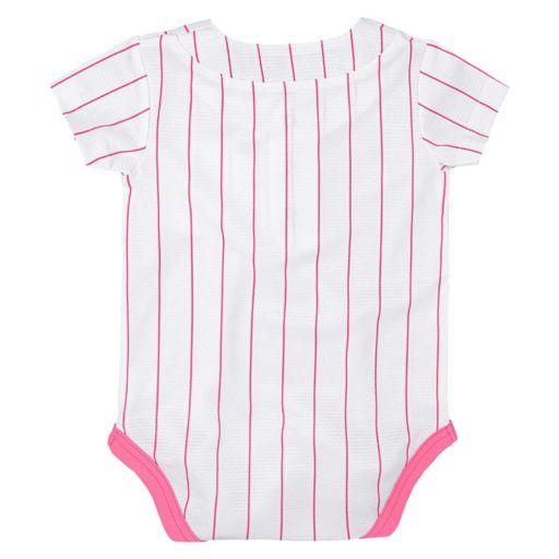 Baby Majestic New York Yankees Cool Base Replica Jersey Bodysuit