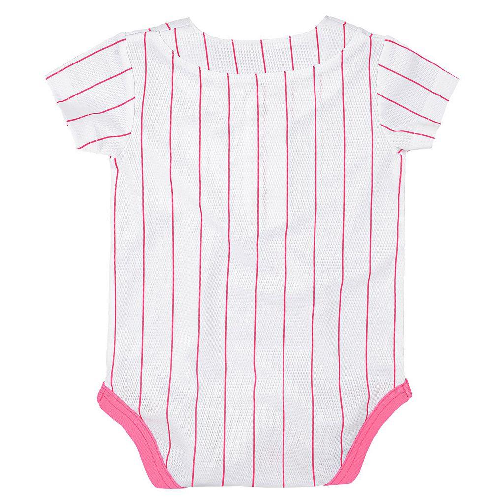 Baby Majestic Philadelphia Phillies Cool Base Replica Jersey Bodysuit