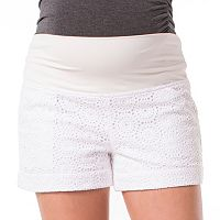 Maternity Pip & Vine by Rosie Pope Belly Panel Crochet Shorts