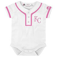 Baby Majestic Kansas City Royals Cool Base Replica Jersey Bodysuit