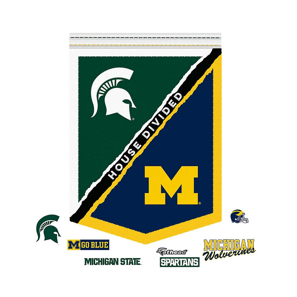 Michigan State Spartans House Divided Banner Wall Decal by Fathead